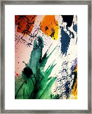 Abstract - Splashes Of Color Framed Print by Ellen Levinson