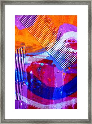 Abstract  19614 Cropped IIi Framed Print by John  Nolan