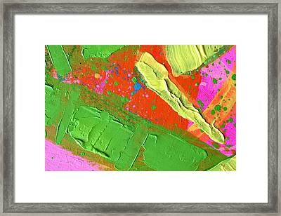 Abstract 6814 Diptych Cropped X Framed Print by John  Nolan