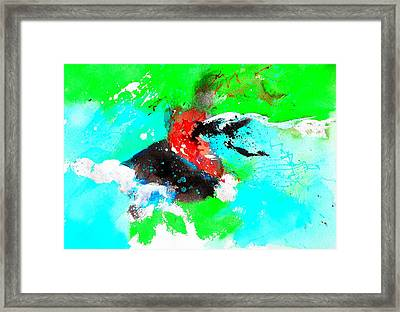 Abstract 72374 Framed Print by Pol Ledent