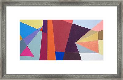 abstract angles I Framed Print by Diane Fine