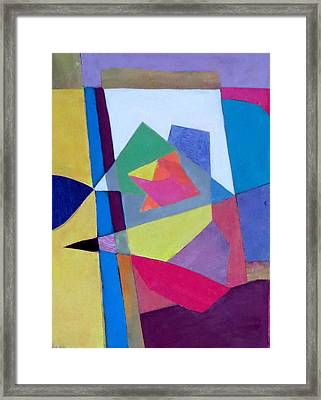 Abstract Angles II Framed Print by Diane Fine