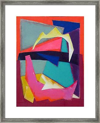 Abstract Angles Iv Framed Print by Diane Fine