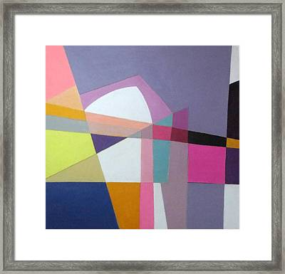 Abstract Angles Ix Framed Print by Diane Fine