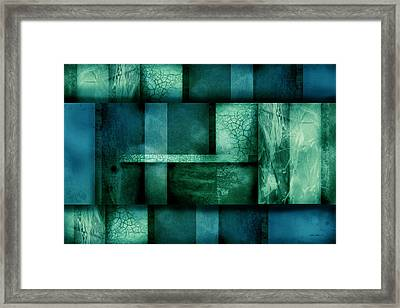 abstract art Blue Dream Framed Print by Ann Powell
