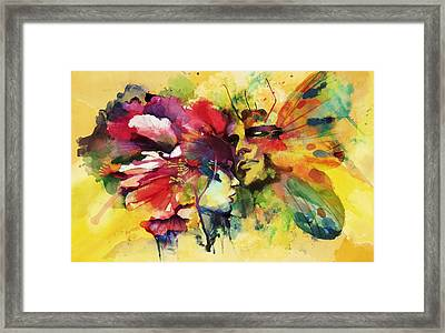 Abstract Art Framed Print by Catf