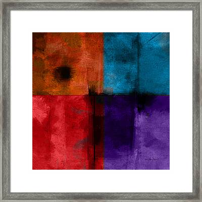 abstract - art- Color Block Square Framed Print by Ann Powell
