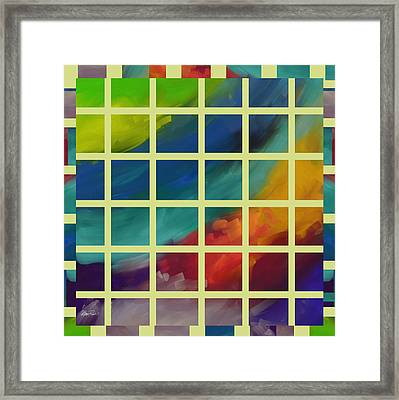 abstract - art- Color Study One Framed Print by Ann Powell