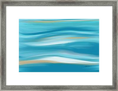 abstract - art-  Contemplation  Framed Print by Ann Powell