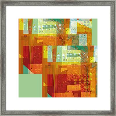 abstract - art- Intersect Orange   Framed Print by Ann Powell