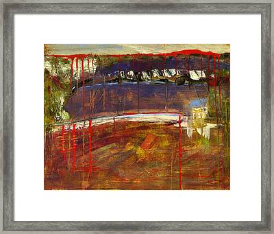 Abstract Art Landscape Framed Print by Blenda Studio
