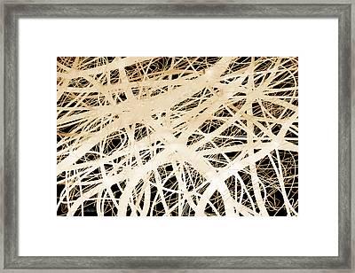 abstract- art- Neurons Framed Print by Ann Powell