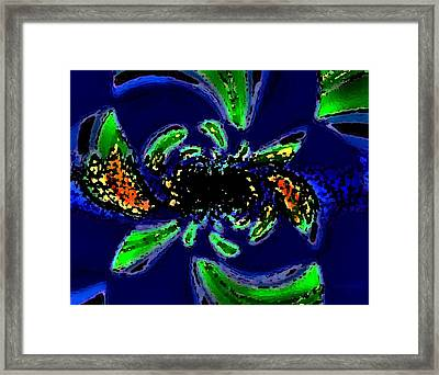 Abstract Art Of Caribbean Fruits Framed Print by Mario Perez