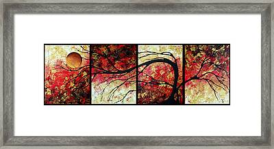 Abstract Art Original Landscape Painting Bring Me Home By Madart Framed Print by Megan Duncanson