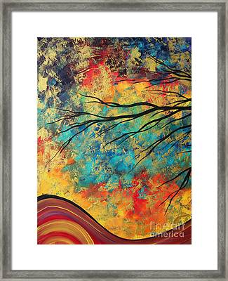 Abstract Art Original Landscape Painting Go Forth I By Madart Studios Framed Print by Megan Duncanson