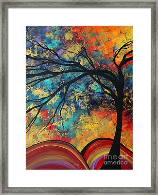 Abstract Art Original Landscape Painting Go Forth II By Madart Studios Framed Print by Megan Duncanson