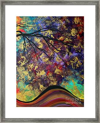 Abstract Art Original Landscape Painting Go Forth IIi By Madart Studios Framed Print by Megan Duncanson