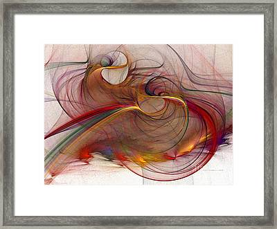 Abstract Art Print Inflammable Matter Framed Print by Karin Kuhlmann