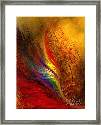 Abstract Art Print Sayings Framed Print by Karin Kuhlmann