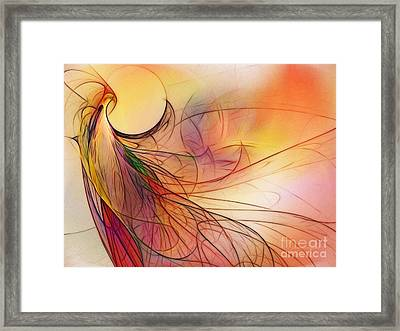 Abstract Art Print Sunday Morning Sidewalk Framed Print by Karin Kuhlmann
