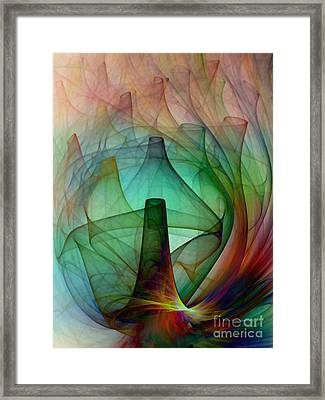 Abstract Art Print Witches Kitchen Framed Print by Karin Kuhlmann