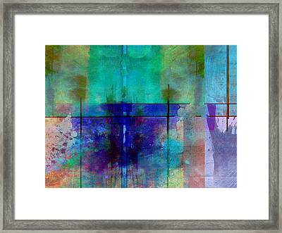 abstract - art- Rhapsody in Blue Framed Print by Ann Powell