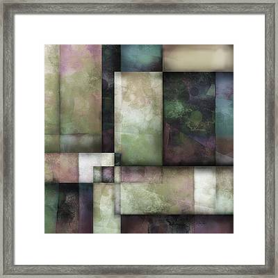 abstract - art-  Spring Twilight One   Framed Print by Ann Powell