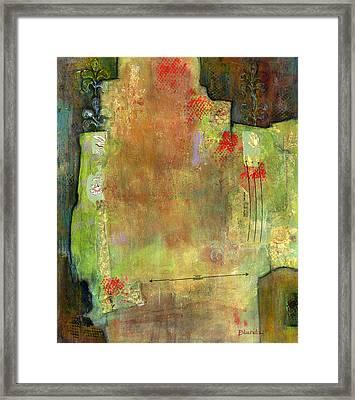 Abstract Art Where The Love Is Framed Print by Blenda Studio