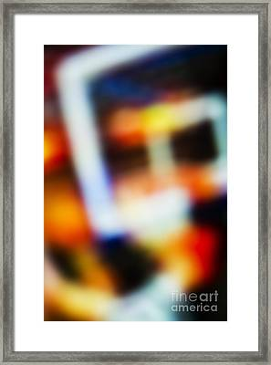 Abstract Basketball Background Framed Print by Dan Radi