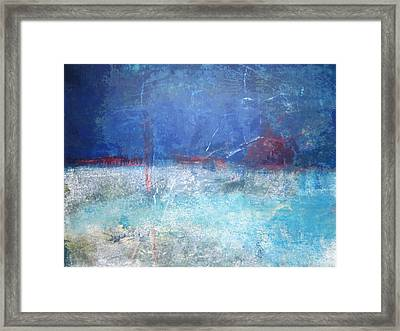 Abstract Blue Horizon Framed Print by John Fish