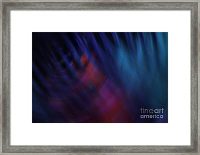 Abstract Blue Pink Green Blur Framed Print by Marvin Spates