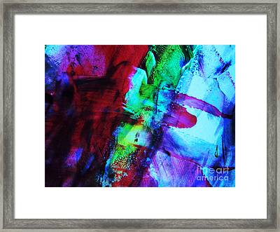 Abstract Bold Colors Framed Print by Andrea Anderegg