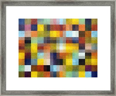 Abstract Boxes With Layers Framed Print by Michelle Calkins