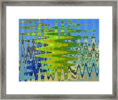 Abstract By Photoshop 1 Framed Print by Allen Beatty