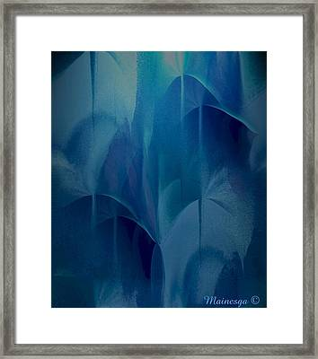 Abstract C-u-r Framed Print by Ines Garay-Colomba