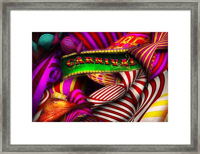 Abstract - Carnival Framed Print by Mike Savad