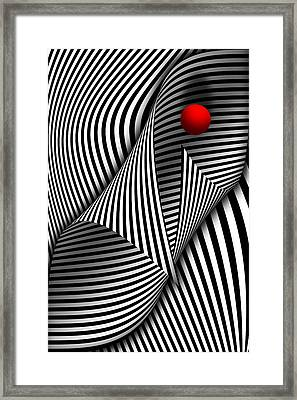 Abstract - Catch The Red Ball Framed Print by Mike Savad