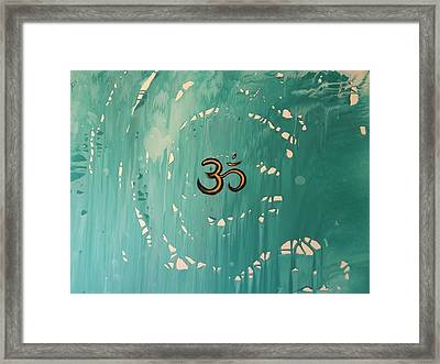 abstract chakra art OM Framed Print by Pato Aguilar and Holly Anderson