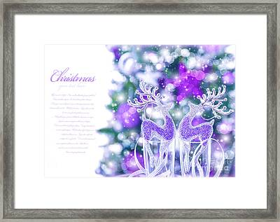Abstract Christmas Border Framed Print by Anna Omelchenko
