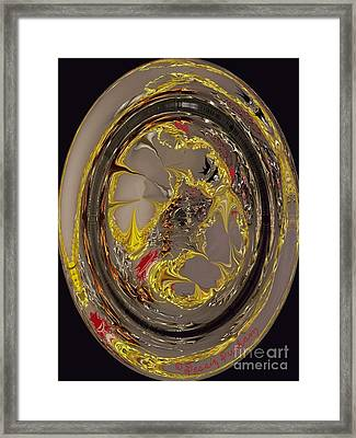 Abstract Circle Of Light Framed Print by Dessie Durham