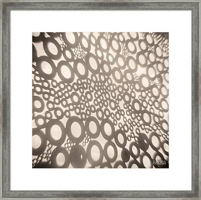 Abstract Circle Pattern Framed Print by Beverly Brown