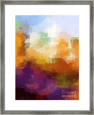 Abstract Cityscape Cubic Framed Print by Lutz Baar