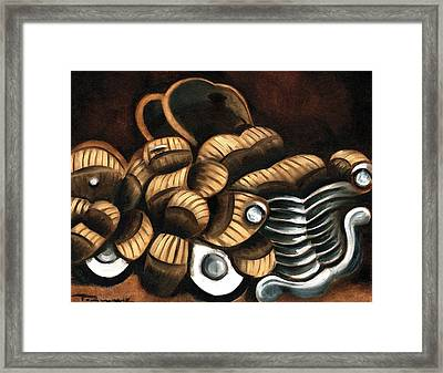 Abstract Classic Truck Art Print Framed Print by Tommervik