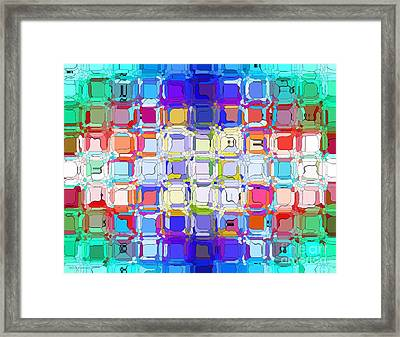 Abstract Color Blocks Framed Print by Anita Lewis
