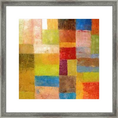 Abstract Color Study Vii Framed Print by Michelle Calkins