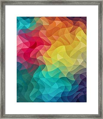 Abstract Color Wave Flash Framed Print by Philipp Rietz