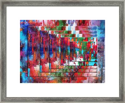 Abstract Colors Right Panel 01 Framed Print by Thomas Woolworth