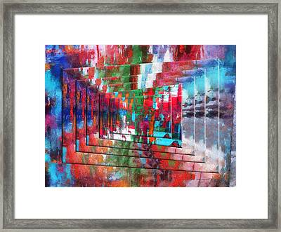 Abstract Colors Right Panel 02 Framed Print by Thomas Woolworth