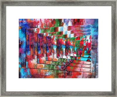 Abstract Colors Right Panel 03 Framed Print by Thomas Woolworth