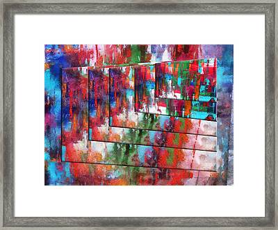 Abstract Colors Right Panel 04 Framed Print by Thomas Woolworth